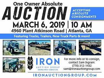 Iron Auction Group | One Owner Absolute Auction | March 6, 2019, 10 AM | 4960 Plant Atkinson Road, Atlanta GA