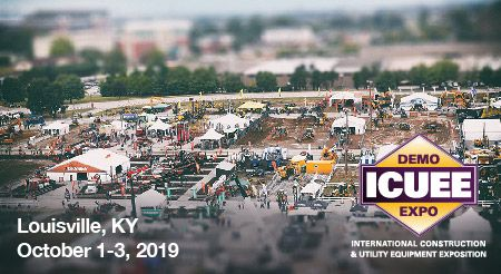 ICUEE DEMO EXPO | International Construction & Utility Equipment Exposition | Louisville, KY | October 1-3, 2019