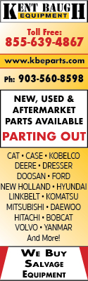 Parting Out | New, Used & Aftermarket Parts Available | Kent Baugh Equipment
