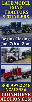 Iron Horse Auction | Late Model Road Tractors & Trailers | Jan. 7, 2020 2:00 PM