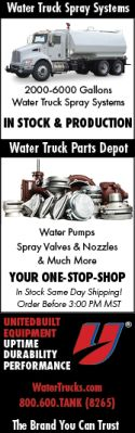 Water Truck Spray Systems | 2000-6000 Gallons | In Stock & Production | Water Truck Parts Depot | Water Pumps, Spray Valves & Nozzles & Much More | Your One-Stop-Shop | In Stock Same Day Shipping! Order Before 3:00 PM MST