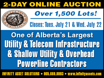 Copperline Excavating 2-Day Online Auction
